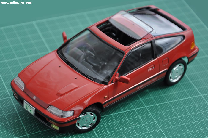 Honda Cr X >> Fujimi Honda CR-X 1/24 scale. Photographs.