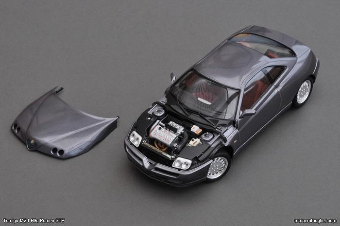 Tamiya Alfa Romeo Gtv 1 24 Scale Model Kit Photographs